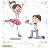 Fumetto Di Vettore Proposta Matrimonio Immagine