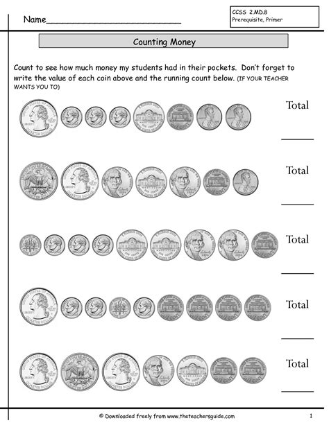 printable quarter collector count coins worksheet counting coins worksheets with