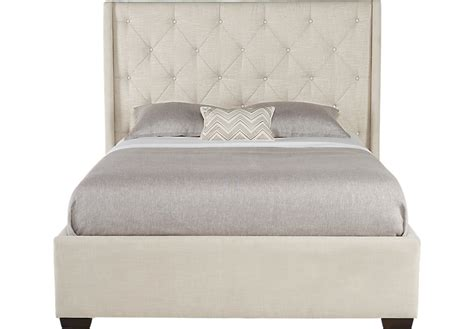 rooms to go headboards alison oatmeal 3 pc queen upholstered bed beds white