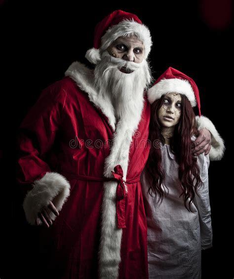 scary santa stock photo image  nightmare spooky