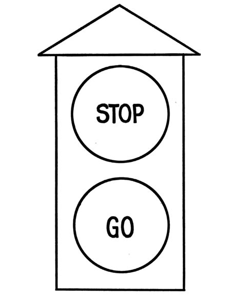 traffic light coloring page coloring home