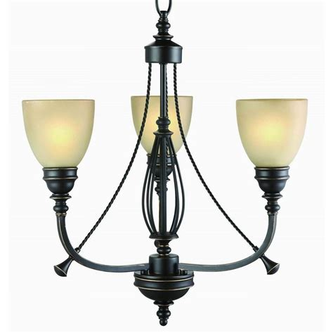 Bronze Chandelier Lighting Commercial Electric 3 Light Bronze Chandelier Rb063 P3 The Home Depot