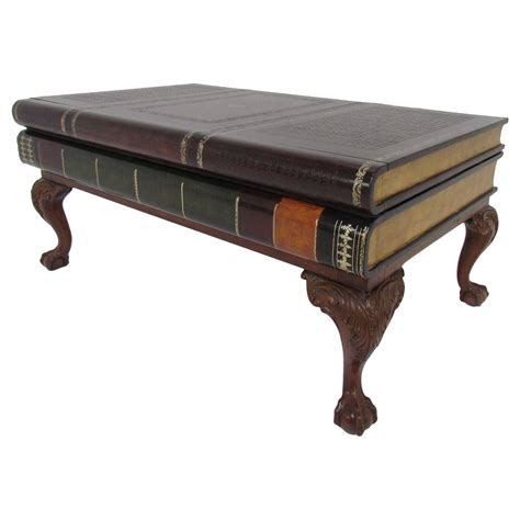 Maitland Smith Stacked Leather Book Form Coffee Table At Stacked Coffee Table