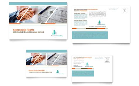 post card template publisher management consulting postcard template word publisher