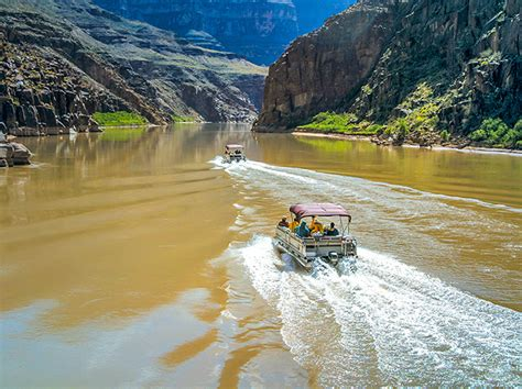 grand canyon pontoon boat tours grand canyon west rim bus heli boat from vegas