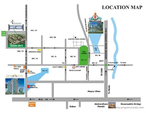 Floor Location by Maxblis White House Sector 75 Noida Residential