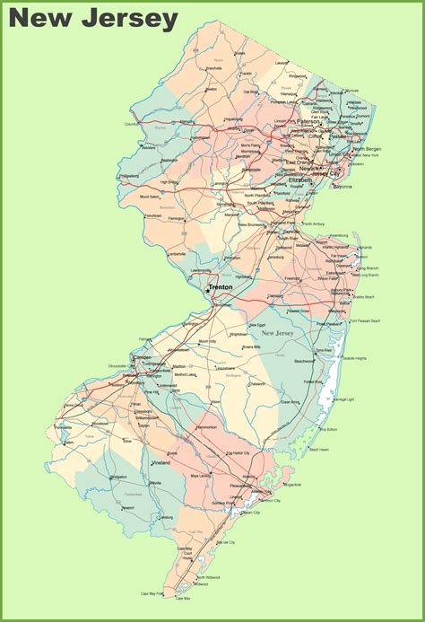 america map new jersey map of new jersey state map of usa united states maps