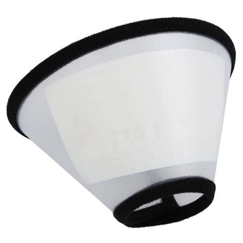 cone collar elizabethan cat pet wound healing cone e collar white with black ct ebay