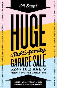 i m having a garage sale with screen printed posters generic garage sale sign yard sale signs