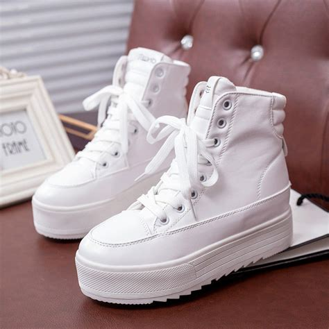 womens high top fashion sneakers fashion s casual shoes lace up flat high top fashion