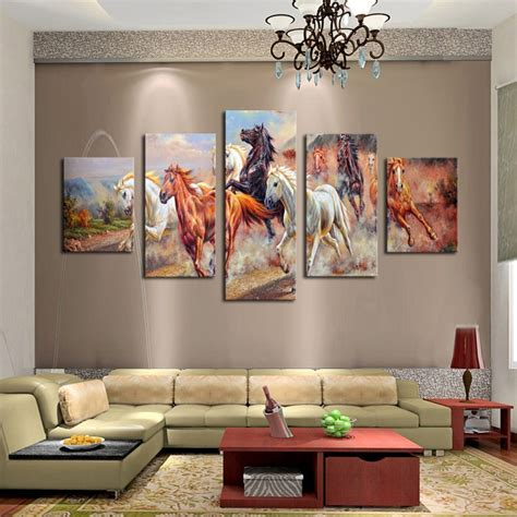 home interior wall hangings aliexpress buy unframed 5 panels canvas print painting modern running canvas wall