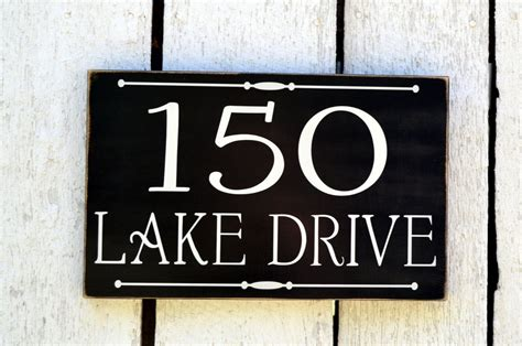 lake house sign address plaque custom house numbers sign