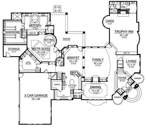 corner house plans herman park 4520 5 bedrooms and 5 baths the house