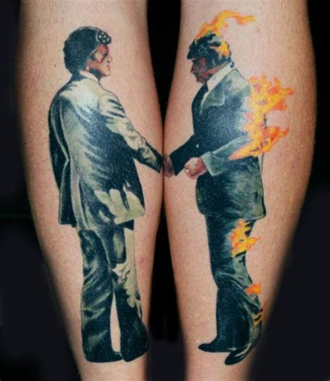 wish you were here tattoo pink floyd on