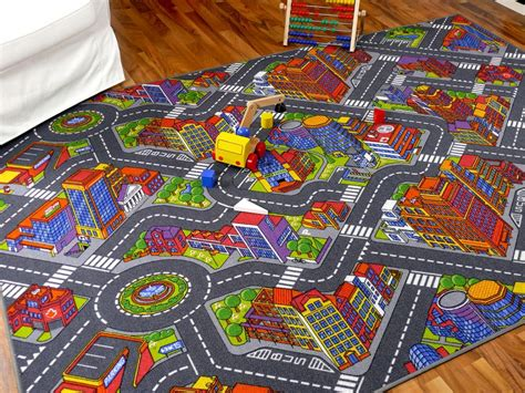 teppiche 3d optik kinder spiel teppich stra 223 enteppich 3d big city grau in 24
