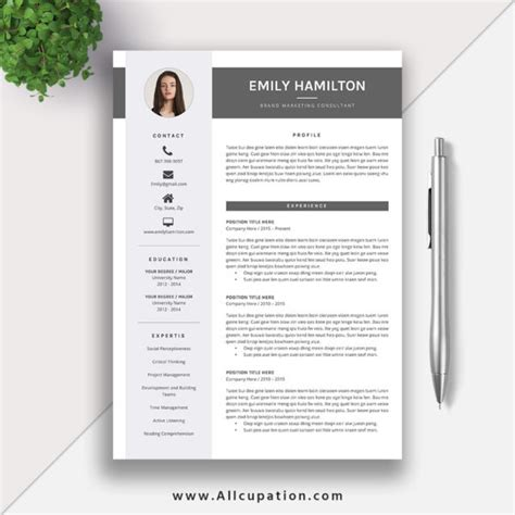 professional resume templates beautiful and word editable this eye catching editable word resume template for instant is more professional