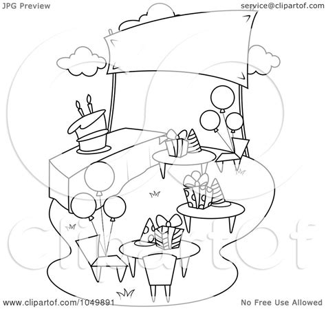 garden party coloring pages royalty free rf clip art illustration of a coloring page