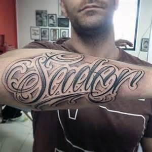 75 tattoo lettering designs for men manly inscribed ink