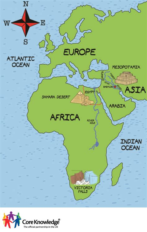 map of africa and asia knowledge uk image library year two