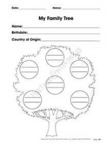 get to know my family worksheets for pre k my family