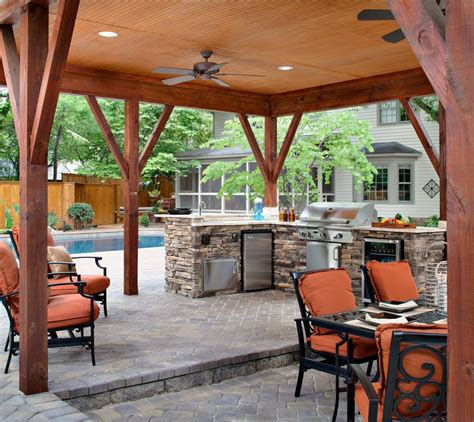 covered outdoor kitchen designs covered outdoor kitchen plans patio traditional with