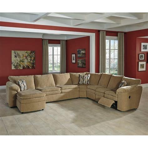 sleeper recliner sectional ashley coats 5 piece fabric reclining sleeper sectional in