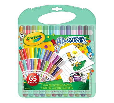 Crayola Washable Pip Squeaks Kit crayola washable pip squeaks markers paper set 65 pieces