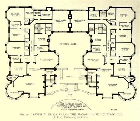 edwardian house plans floor plan of the manor house chicago floor plans