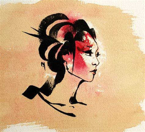 japanese geisha drawings spring drawings and geishas on pinterest