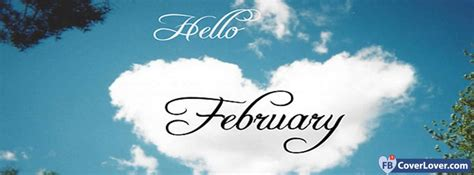 february cloud heart shaped seasonal facebook cover