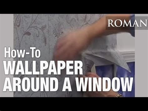 how to wallpaper around windows how to wallpaper hang around a window youtube