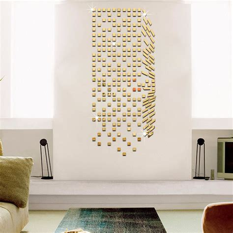 mirror home decor mirror mosaic background wall stickers home decor diy