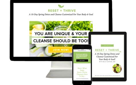 Thrive Detox by Reset Thrive Cleanse Program Product Launch Branding