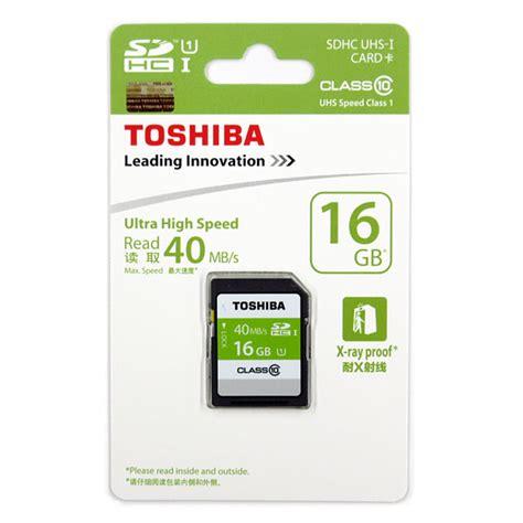 Toshiba Sdhc Uhs I Class 10 16gb 2010 toshiba sdhc uhs i class 10 40mb s 16gb sd