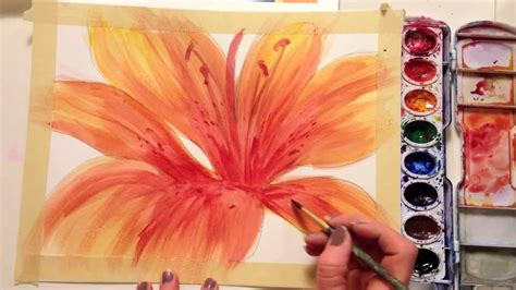 how to paint how to paint a flower with watercolor youtube