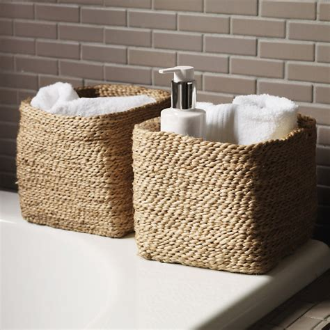 bathroom storage with baskets storage