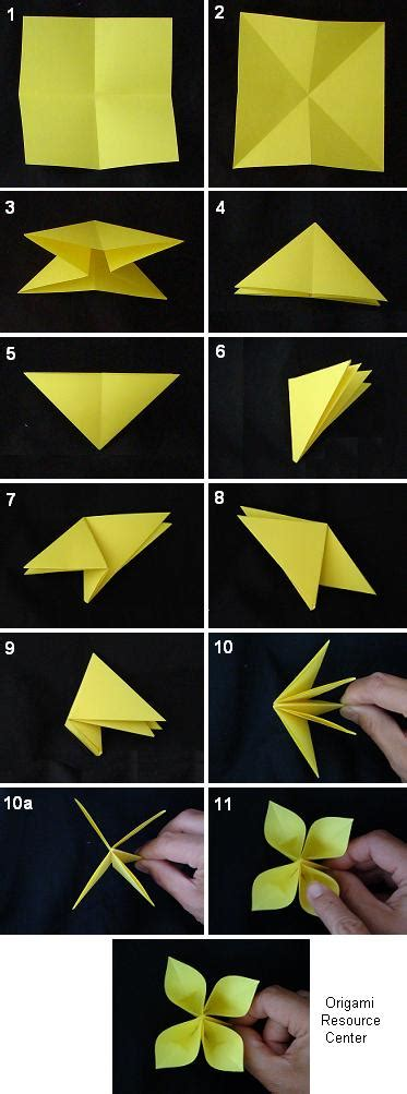 Origami Paper Folding Flowers - origami buttonhole flowers