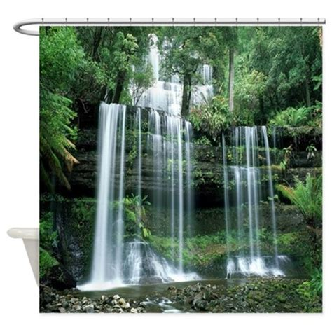 Waterfall Shower Curtains waterfall shower curtain by 904shirts