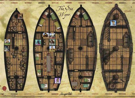 pirate ship floor plan 240 best images about roll20 on pinterest weapons for d