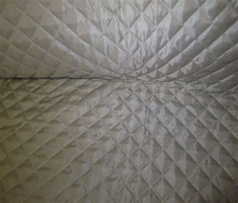 Quilted Polyester Fabric by New Light Gray Silver Polyester Quilted Fabric Ebay