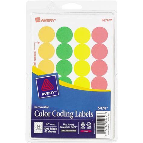 color coding labels avery 3 4 quot color coding labels