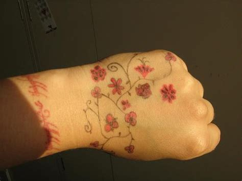 red handed tattoo tree with flowers tattooimages biz