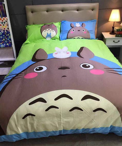 totoro bed sheets popular totoro bed set buy cheap totoro bed set lots from