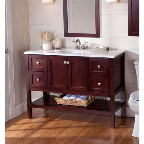 St Paul Bathroom Vanities by St Paul Sydney 48 1 2 In Vanity In Cherry With