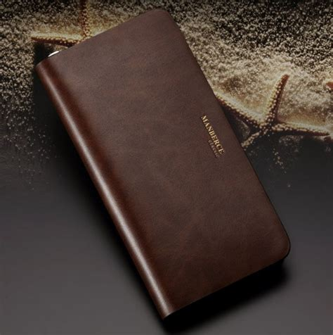 Custom Initial Name Clutch Saffiano Leather Brown personalized leather wallet clutch leather bag bagswish