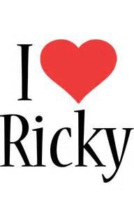 ricky logo name logo generator kiddo i love colors style