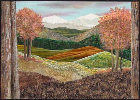 Landscape Quilt Images Painted And Stitched Landscape Quilt Fiber Designs