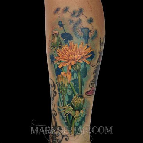 yellow corn flower and dandelions ideas