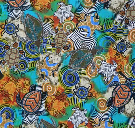 patchwork quilting sewing fabric aboriginal sea turtles