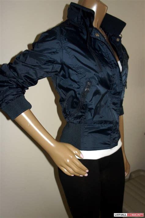 Jaket Bomber Crop Nevy terranova italian navy blue guibbotto cropped jacket